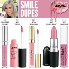 Kylie Jenner lip kit dupe Smile