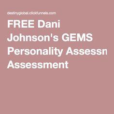 FREE Dani Johnson's GEMS Personality Assessment Dani Johnson, Personality Assessment, Gems, Success, Books, Free, Libros, Rhinestones, Book