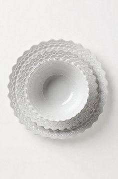 Pie Crust Dinnerware: When stacked on top of one another, the pieces of the pie crust set ($10-$17, originally $12-$20) look like lace.