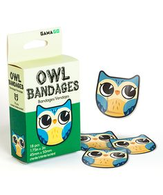 Take a look at this 18-Pc. Blue Owl Bandage today!