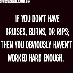 My friends always say I bruise easy from dancing but no it's because I try my hardest