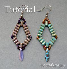 Simplicity beadwoven earrings tutorial / by BeadedTreasury