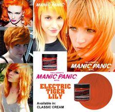 tinte de pelo naranja manic panic electric tyger lily