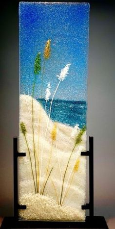 Fused Glass Jewelry, Fused Glass Art, Stained Glass Art, Glass Artwork, Glass Wall Art, Glass Fusion Ideas, Glass Fusing Projects, Sea Glass Crafts, Glass Flowers