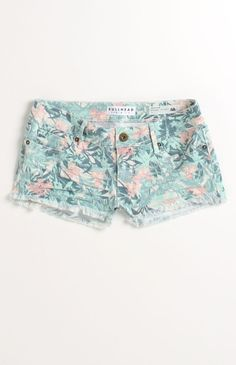 Bullhead Denim Co Fray Hem Hawaii Print Shorts CAD 43.42