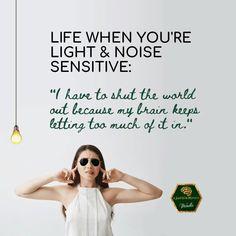 Light and noise sensitivity after brain injury - #jumbledbrain