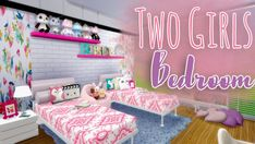 The Sims Resource: Two Girls Bedroom • Sims 4 Downloads