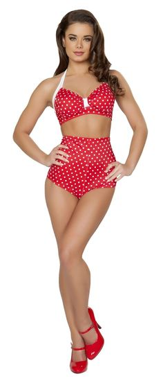 $69 High Waist Retro Swimsuits! Get 30% off today! Text STARLETSHARLOTS to 22828