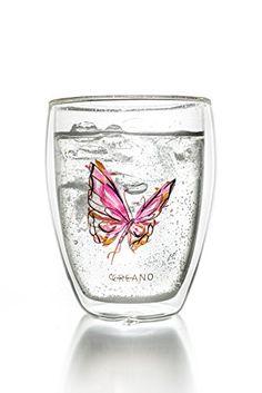 Creano Thermoglas Colourfly (im Schmetterling Design, rot... http://amzn.to/293Ifv2