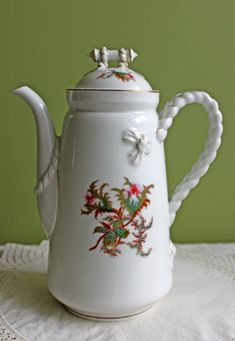 Haviland Limoges Porcelain Coffee Pot  or by AnythingDiscovered