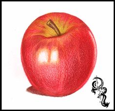 Derrick the Artist: How to Color a Delicious Pink Lady Apple with Colored Pencils