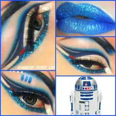 Makeup Frenzy   Star Wars R2D2 inspired by request!