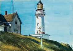 Edward Hopper, Light at Two Lights, 1927. Watercolor and graphite on paper.   Whitney Museum of American Art.
