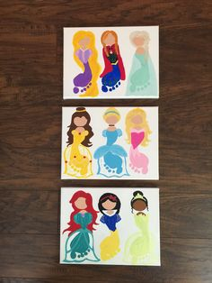 Princess footprint art