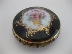 Limoges Round Covered Porcelain Trinket Dish by MyLittleSomethings, $24.00
