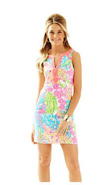 Lilly Pulitzer - Ryder Shift Dress in Multi Lovers Coral. Pre-ordered for the Junior League a Annual Dinner