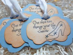Cinderella Girly Shoe Tags Vintage