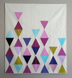 Balanced triangles quilt | by Mama Love Quilts (Nicole)
