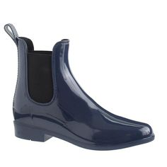 """Our favorite Chelsea boots, now in rain boot form. Bring on the storms—because weather appropriate doesn't have to mean ugly. <ul><li>Half sizes order up.</li><li>1"""" heel.</li><li>PVC upper and sole.</li><li>Import.</li></ul>"""