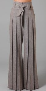 L.A.M.B. Cross Dye Wide Leg Pants - not a big fan of grey, but these are AWESOME!