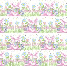 Easter / Spring Seamless Print Pattern 1 by DonCabanza on DeviantArt