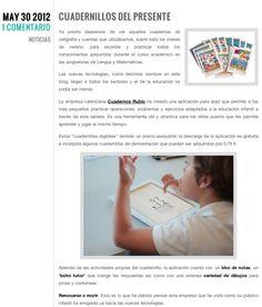 Nota de prensa sobre iCuadernos by Rubio en Éxodo Digital.