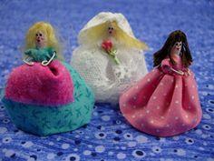 Q tip dolls