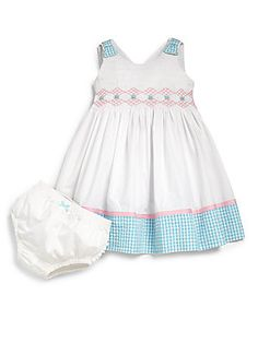 Hartstrings Infant's Two-Piece Smocked Dress & Bloomers Set