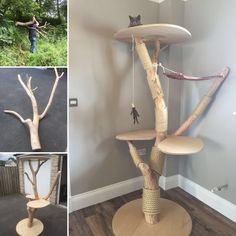 The missis asked for a new scratching post for the cat, this is what I came up…