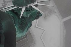 Not exactly a garden statue: A webcam perched atop Lady Liberty's torch captured this stunning view of the snow-covered statue on Dec. 10, 2013.