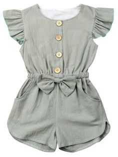 This classy romper is gorgeous as it looks! Our Luna Grau Romper is perfect for … This classy romper is gorgeous as it looks! Our Luna Grau Romper is perfect for parties, wandering and photo shoot for her! She'll have everyone staring! Baby Girl Dresses, Baby Outfits, Toddler Outfits, Kids Outfits, Little Girl Outfits, Little Girls, Baby Girl Fashion, Toddler Fashion, Kids Fashion