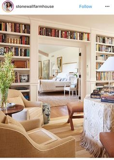 Give us a copy of Little Women by Louisa May Alcott, and we'll happily curl up in one of these cozy seats and spend the rest of the winter… Master Bedroom, Bedroom Decor, Library Bedroom, Library Table, Library Ideas, Library Books, Modern Bedroom, Bedroom Ideas, Built In Bookcase