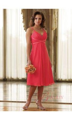 Coral Wedding Bridesmaid Dress #coralwedding #coral #gown #dress #bridesmaid