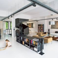 Find home design ideas and interior style inspiration at USM. Elevate your space with USM modular shelving and drawers. Modular Furniture, Home Furniture, Furniture Design, Lounge Chair Vitra, Loft Stil, Sweet Home, Style Loft, Interior Styling, Interior Design