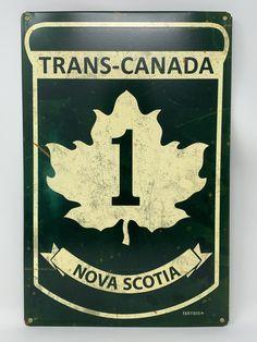 Trans Canada Highway, Newfoundland Canada, Highway Road, Man Cave Gifts, Vintage Metal Signs, Prince Edward Island, New Brunswick, Nova Scotia, Ontario