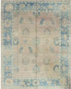 Oushak Rug  Size: 113 x 137 Hand-knotted in Turkey ID: J31737
