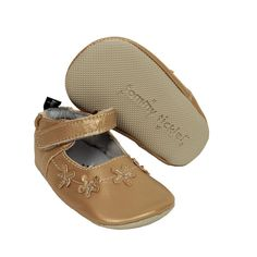 Baby Girl Tommy Tickle Cruzer Mary Jane Crib Shoes, Size: 6-12MONTHS, Gold