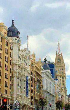Gran Vía, Madrid España.