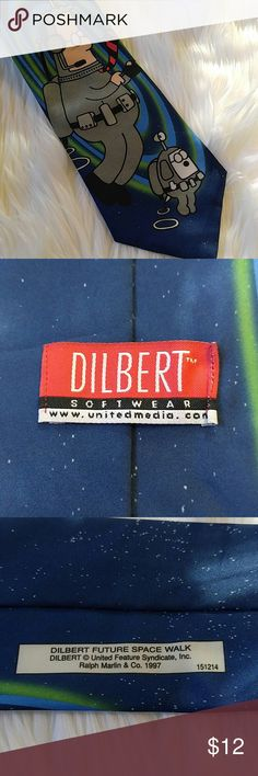 "Vintage Dilbert Space Walk Tie 1997 56"" Great condition Ralph Marlin Ralph Marlin Accessories Ties"