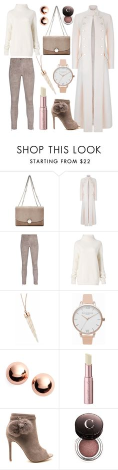 """Winter Neutrals"" by stephanie-mcclaran ❤ liked on Polyvore featuring Marc Jacobs, Temperley London, Arma, Diane Von Furstenberg, Olivia Burton, Argento Vivo, Too Faced Cosmetics and Chantecaille"