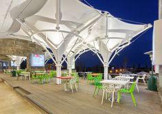 Dejavu restaurant, Izadshahr #dibats #tensilestructure #architecture #سازه_های_پارچه_ای_دیبا #ديبا