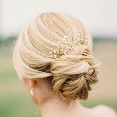 Low bun bridal hair style #hair style #idea
