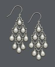 diamond and pearl earrings chandelier - Google Search