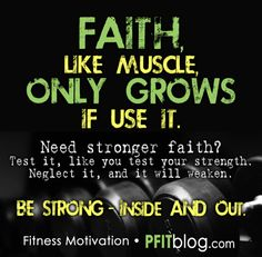 """I can do all things in Christ who STRENGTHENS me."" Philippians 4:13  As our faith grows, things in life that were once difficult to have faith through are like those dog-bone weights. You will be able to carry heavy loads in life with ease and enjoy the victory of experiencing strength in the Lord."