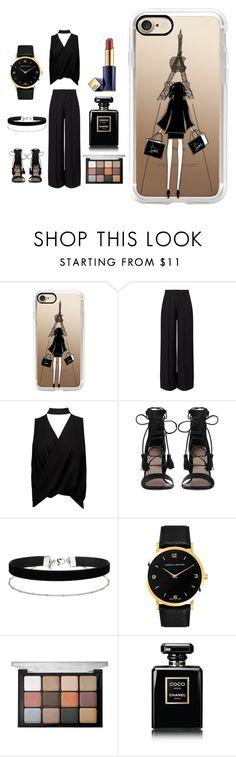 """Paris Fashion Week"" by basketball11-123 ❤ liked on Polyvore featuring Casetify, Miss Selfridge, Boohoo, Zimmermann, Larsson & Jennings, Viseart, Chanel and Estée Lauder"