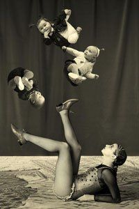 Funny flying baby collage or photoshop by Gerard Harten Art Du Collage, Soul Collage, Photomontage, Art Du Cirque, Photoshop, Bizarre, Foto Art, Vintage Circus, To Infinity And Beyond