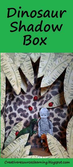 Dinosaur activity for boys shadowbox craft Dinosaur Activities, Activities For Boys, Dinosaur Crafts, Dinosaur Garden, Make A Dinosaur, 3d Paper Crafts, Paper Crafts For Kids, Diy Garden Projects, Projects For Kids