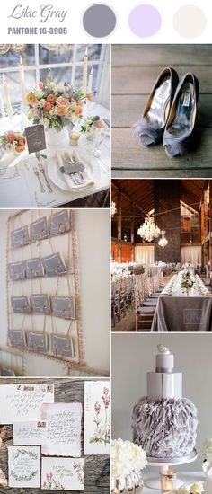 lilac gray spring wedding colors 2016 inspired by Pantone