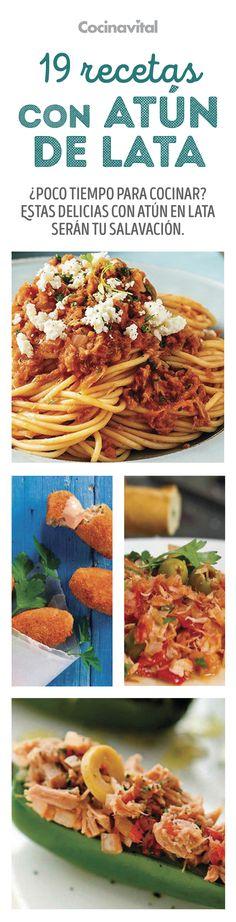 Apuesto a que no conocías las diferentes formas de preparar el atún. Elige alguna de estas recetas fáciles con atún en lata, te sacarán de apuros si eres una persona ocupada que no tiene tiempo de cocinar saludablemente, se convertirán en tus favoritas y aparte de todo son muy económicas. Deli Food, Desert Recipes, Healthy Nutrition, Mexican Food Recipes, Salad Recipes, Tapas, Seafood, Food Porn, Food And Drink
