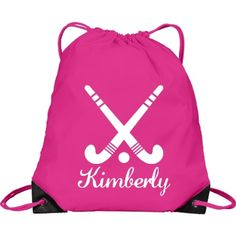 Kimberly. Field Hockey | Great bag for anyone! You gotta have one. You can customize this bag by changing the colour, font or name. Go ahead and make it your own.